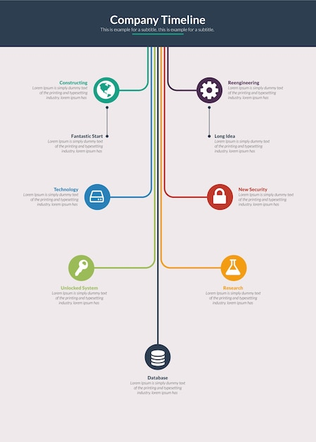 Premium Vector Company Or Project Timeline Infographic