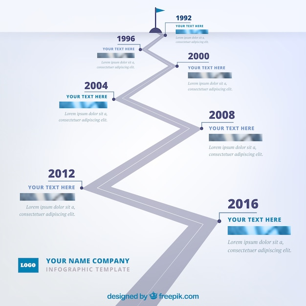 Company time line with professional style
