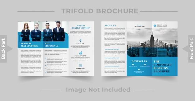 Company trifold brochure design Premium Vector