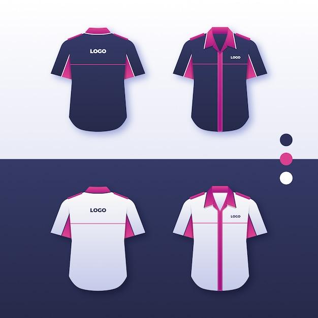 Company uniform shirt design Premium Vector