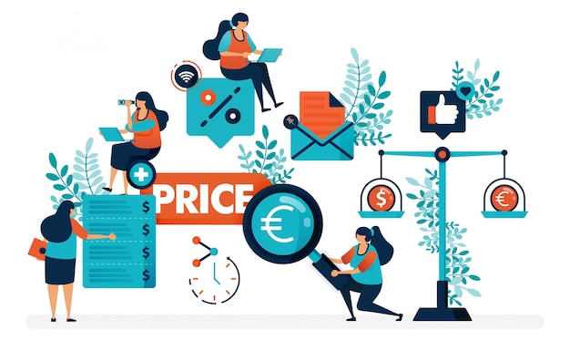 Compare prices for individual stores and products. find the best prices with more discounts and promos. Premium Vector