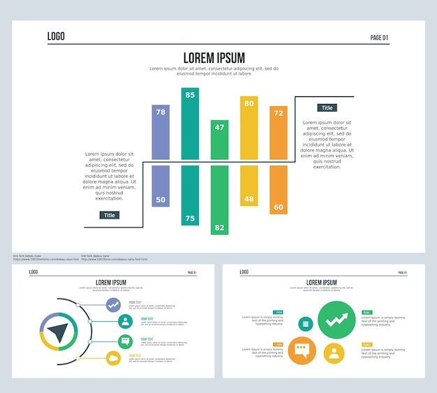 Comparison bar, half sphere, set presentation slide and powerpoint ...