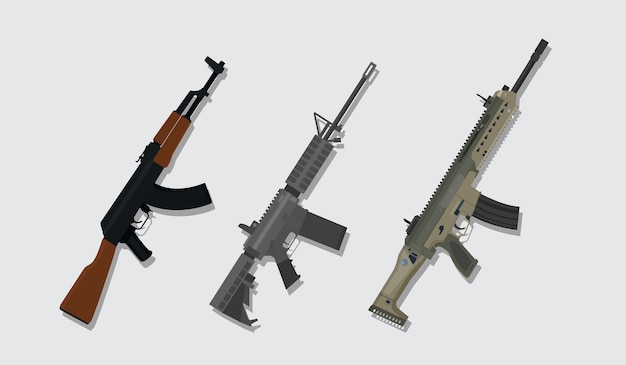 A comparison betweekn main riffle from russia