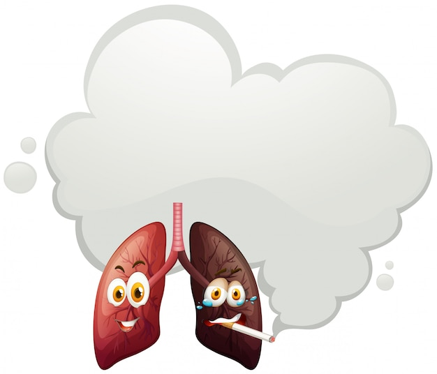 A comparison of human lung Free Vector
