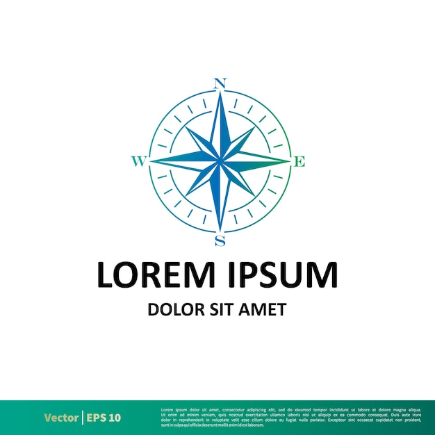 compass rose logo vector template vector premium download
