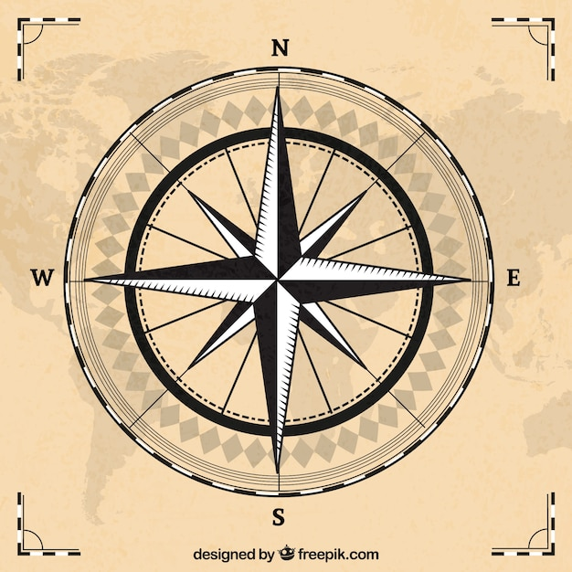 Compass with world map background vector free download compass with world map background free vector gumiabroncs Images