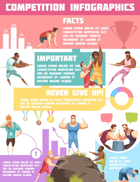 Competition infographics Free Vector