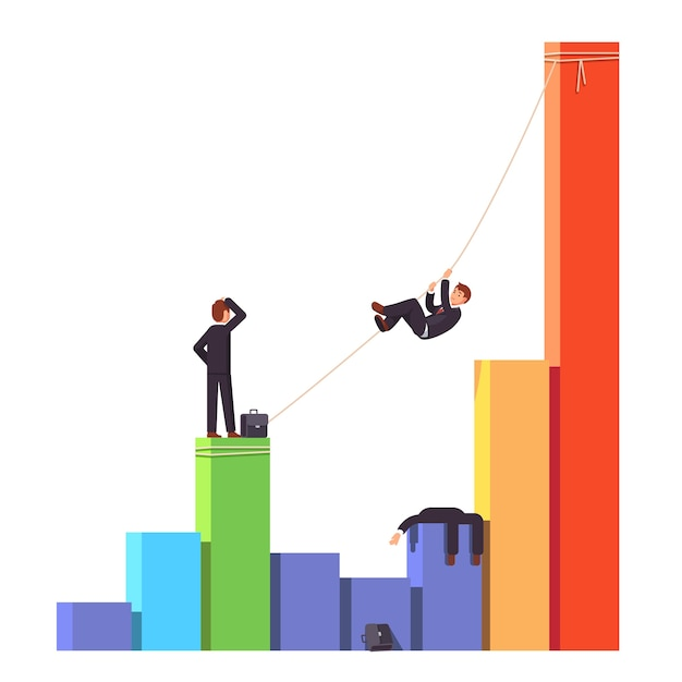 Competitor is dead. business risks concept Free Vector