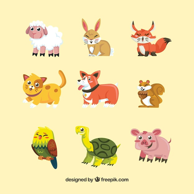 Complete collection of smiley animals