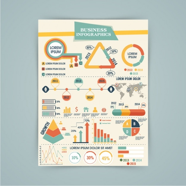 Complete infographic template Premium Vector