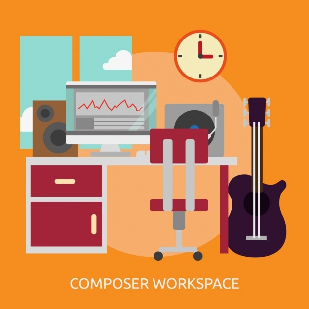 Composer Workspace Background Vector Free Download