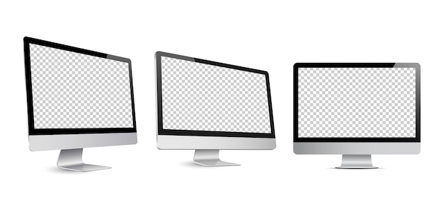 Computer display mockup Premium Vector