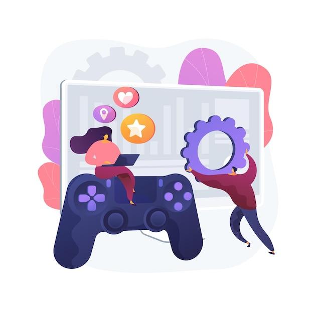 Иллюстрация абстрактной концепции развития компьютерных игр Бесплатные векторы