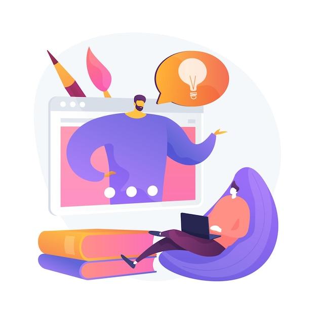 Consigli e suggerimenti per la computer grafica. masterclass di design digitale, corso online, informazioni utili. preparazione all'esame di pittura. Vettore gratuito