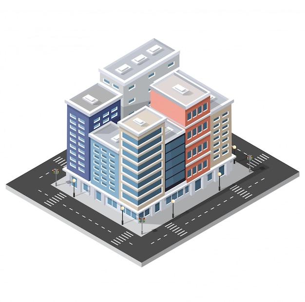 Computer internet icon isometric 3d landscape of Premium Vector