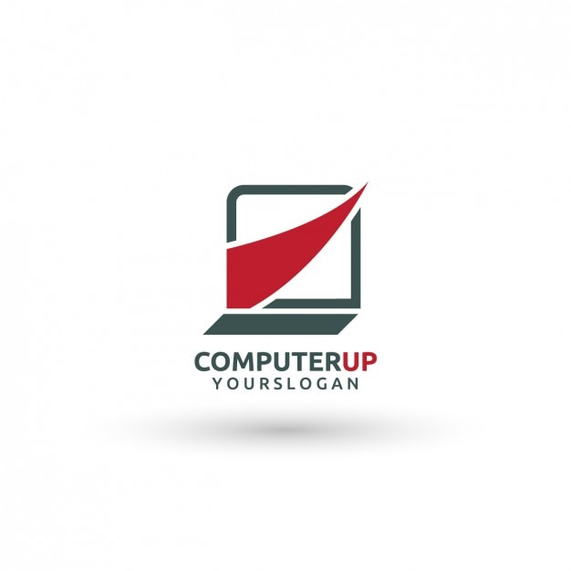 computer logo template vector free download