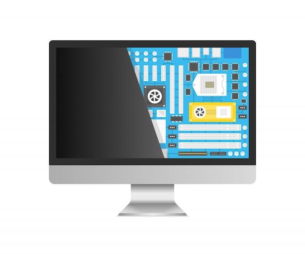 Computer repair service Premium Vector