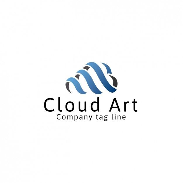 Computing cloud logo template Free Vector