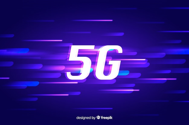 Concept 5g background Free Vector