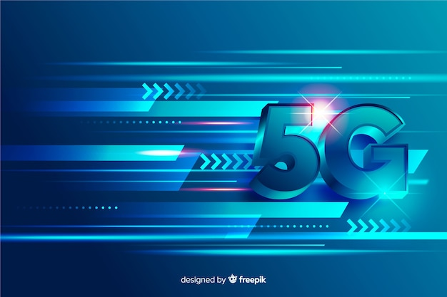 Concept of 5g technology network lines Free Vector