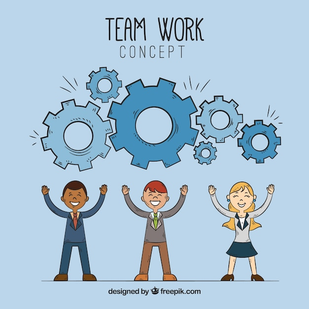 Concept about teamwork, gears