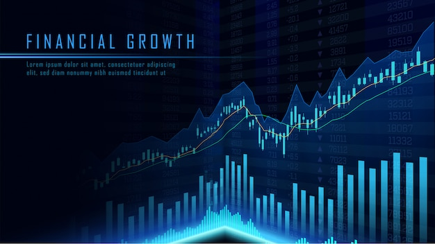 Concept art of financial growth Premium Vector