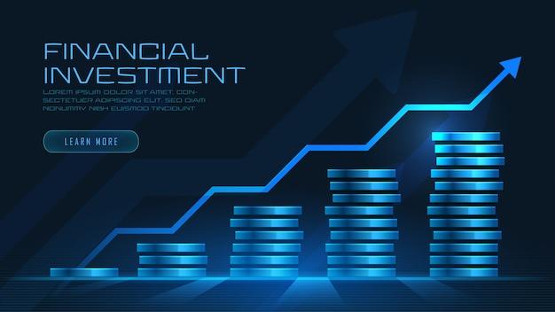 Concept art of financial growth Premium Vector