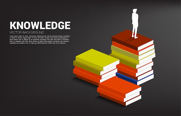 知識の力の概念の背景。 Premiumベクター