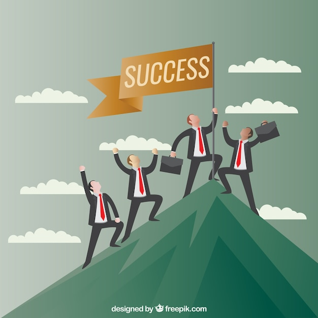 Concept of business success Free Vector