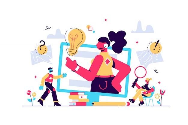 コンセプトカスタマーサービス、ホットラインオペレーターは、webページ、バナー、プレゼンテーション、ソーシャルメディアのクライアントにアドバイスします。オンラインのグローバルテクニカルサポート24 \ 7。イラストアドバイス、ヘルプ、サポートのアイデア。 Premiumベクター