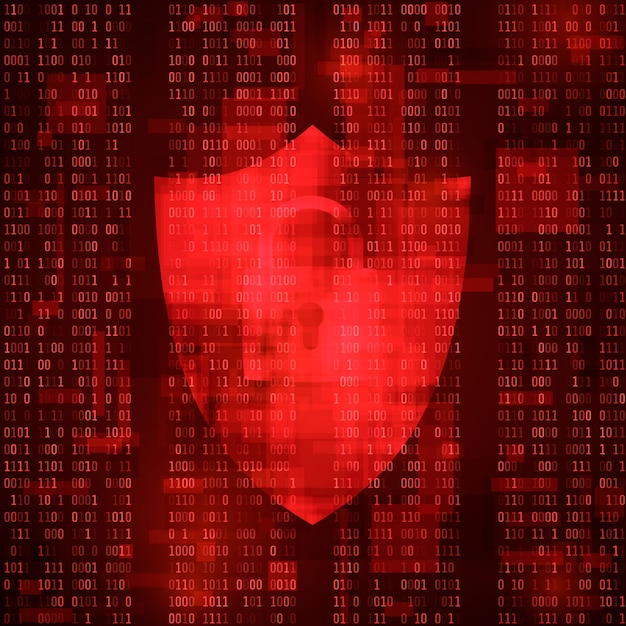Concept cybercrime. computer system hacking. system threat massage. virus attack Premium Vector