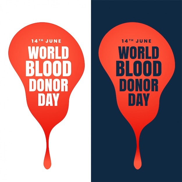 Concept design of world blood donor day Free Vector