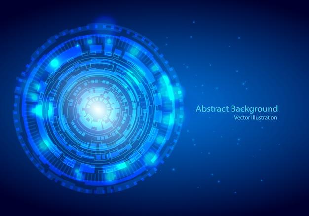 Concept digital technology background. Premium Vector