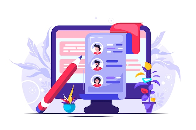 Concept human resources illustration Premium Vector