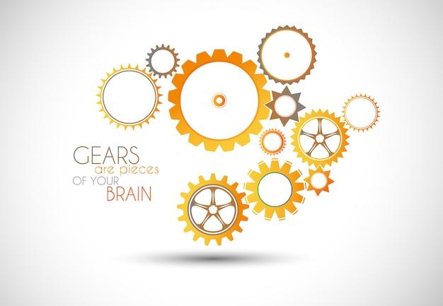Концепция механика gear иллюстрации. Premium векторы