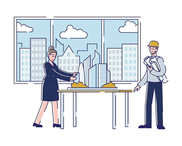 建築家の職業の概念 Premiumベクター