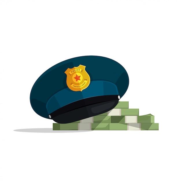 금융 부패 또는 법률 뇌물 벡터 일러스트 레이 션의 개념 프리미엄 벡터