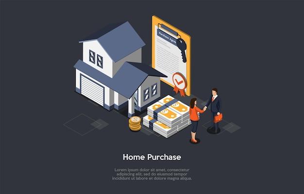 Концепция покупки недвижимости. Premium векторы