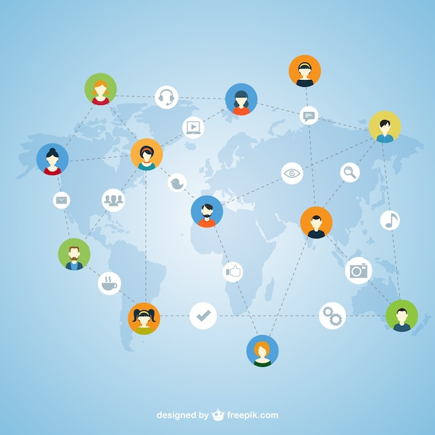 Concept of social network Free Vector