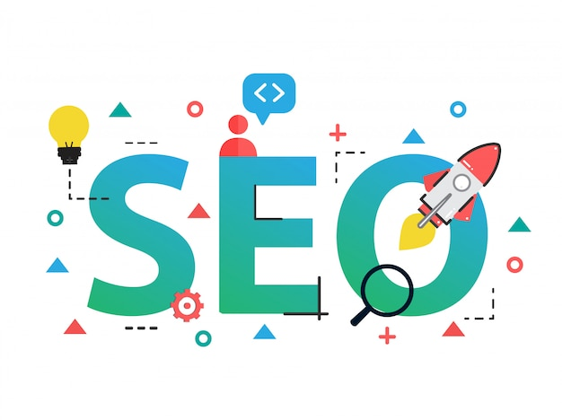Concept of seo search engine optimization Premium Vector