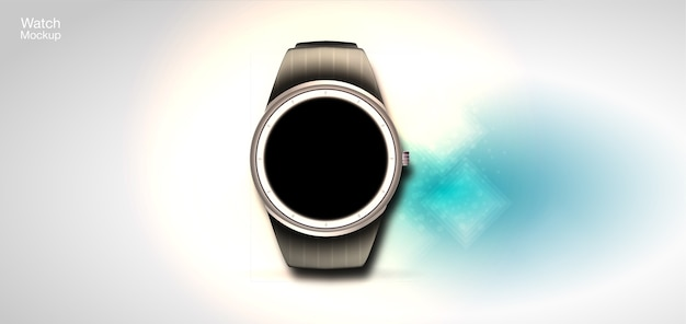Concept of smart watches.  realistic illustration with a futuristic style. Premium Vector