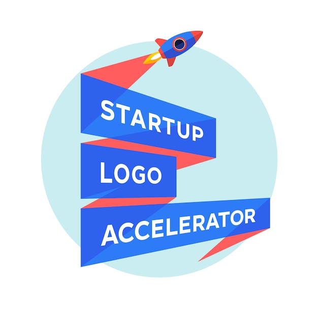 Concept for startup project with inscription Premium Vector