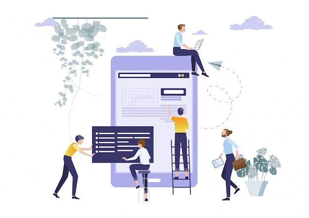 Concept of teamwork planning Premium Vector