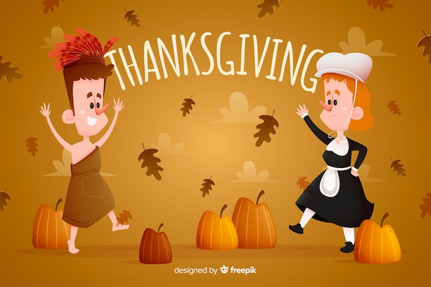 Concept for thanksgiving day wallpaper Free Vector