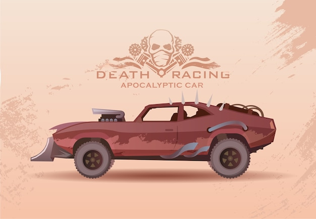 Concept on the theme of cars of the future Premium Vector