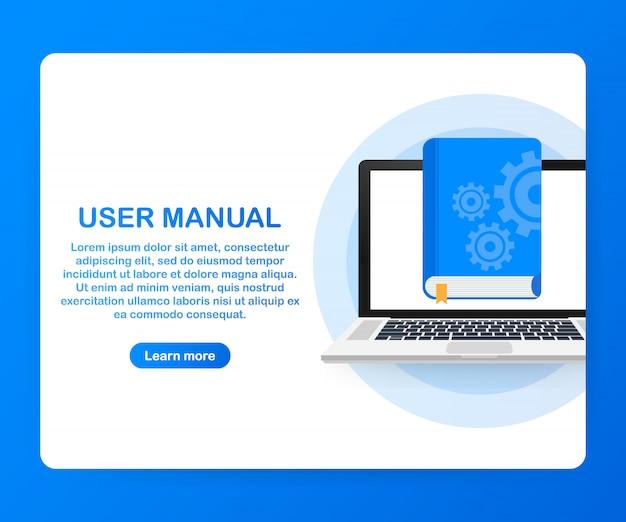 Webページ、バナー、ソーシャルメディアのコンセプトユーザーマニュアル。 Premiumベクター