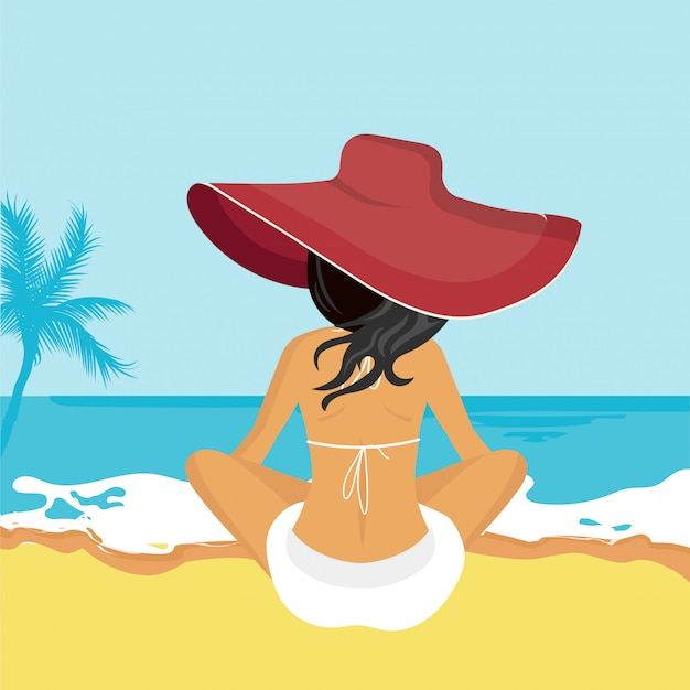 Concept for vacation, holiday and travel,summer time Premium Vector