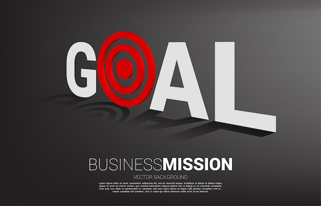 Concept of vision mission and goal of business Premium Vector