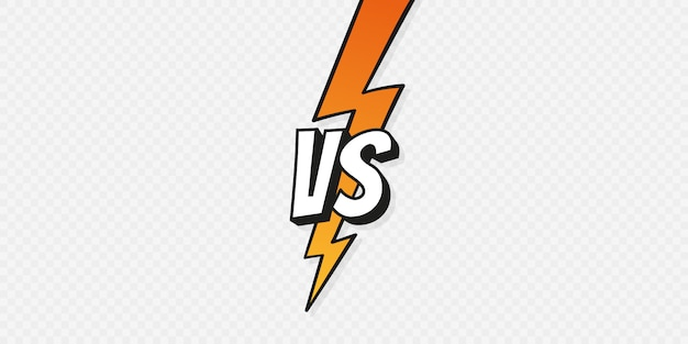 Concept Vs Fight Versus Sign Gradient Style With Lightning Bolt