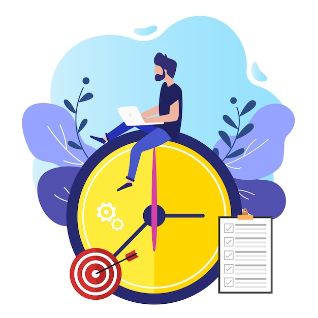 The concept of worker productivity Premium Vector